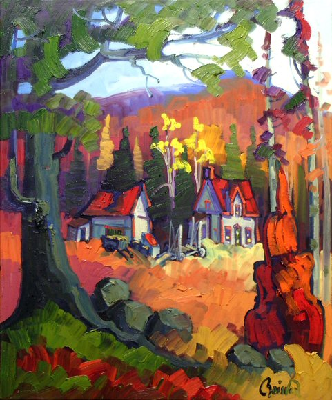 "Image of art work ""Ferme aux Toits Rouges"""