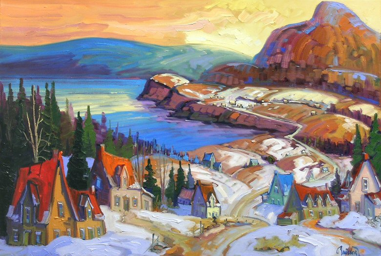 "Image of art work ""La Gaspesie Sous La Neige d"