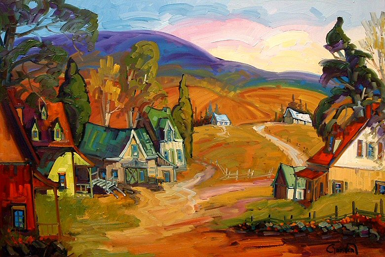 "Image of art work ""Une Ferme du Quebec"""