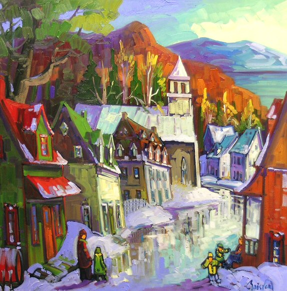 "Image of art work ""Village de la Malbaie a Charlevoix"""