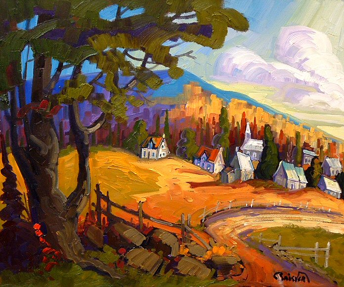"Image of art work ""Village du Quebec"""