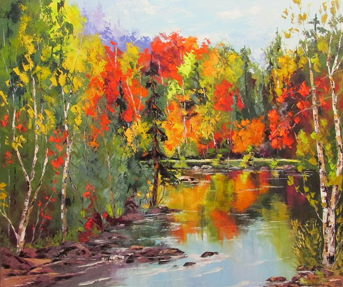 "Image of art work ""Duncaster river path"""