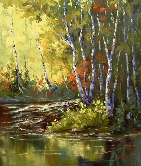 "Image of art work ""Spring on the Red River"""