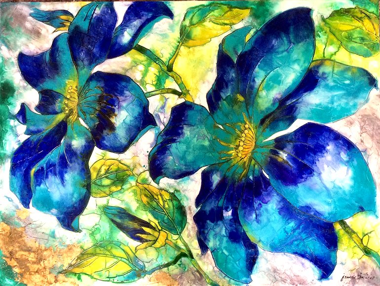 "Image of art work ""Blue Sky Clematite"""