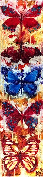 "Image of art work ""No Butterflies Without Flowers"""