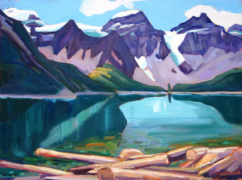 "Image of art work ""Moraine Lake"""