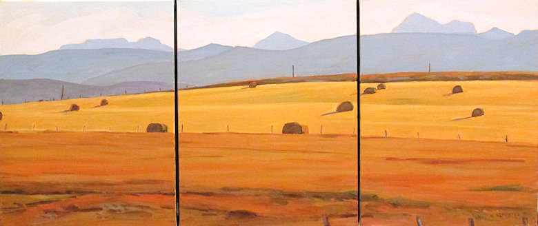 "Image of art work ""Late Afternoon (Triptych 3x)"""