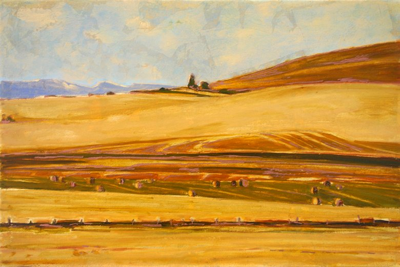 "Image of art work ""Alberta Blue and Gold"""