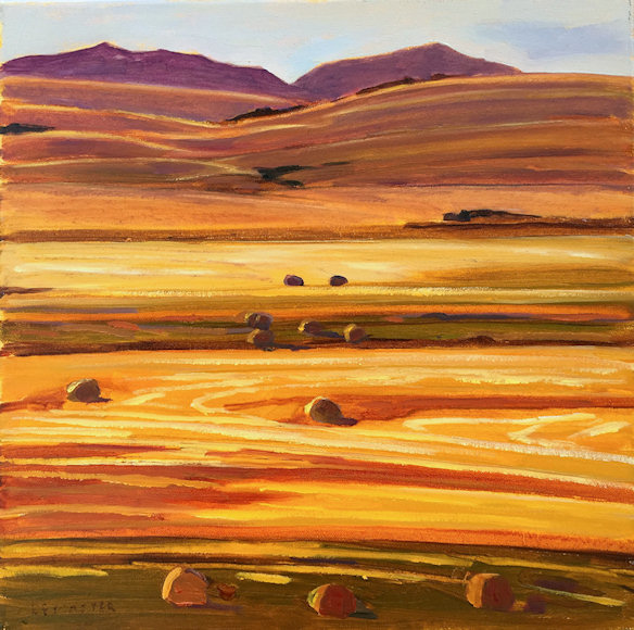 "Image of art work ""Rockies and Golden Fields"""