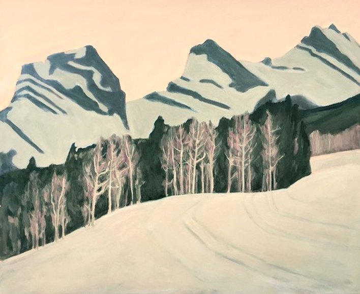 "Image of art work ""Three Sisters Canmore Nordic Trails"""