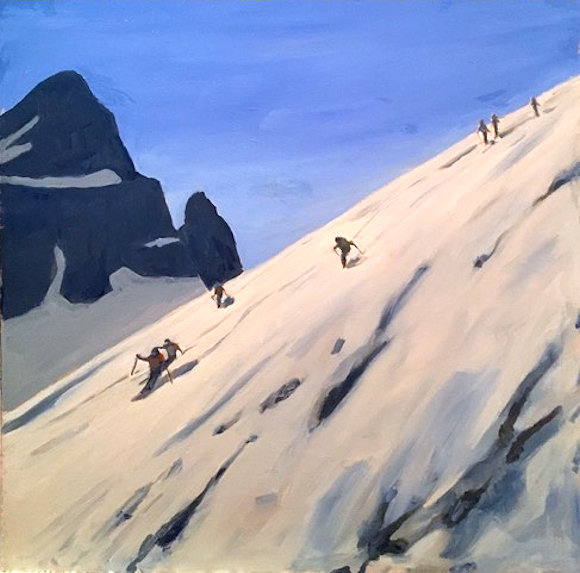 "Image of art work ""Rockies Winter"""