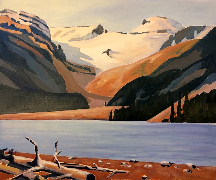 "Image of art work ""Peyto Lake and Glacier"""