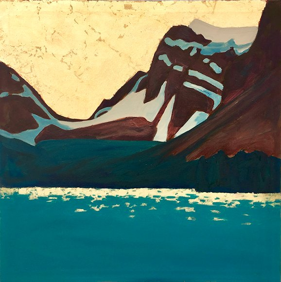 "Image of art work ""Bow Lake and Crowfoot Mountain"""