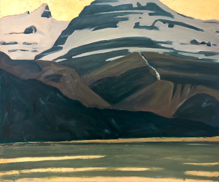 "Image of art work ""Saint Nicholas Peak and Bow Lake"""