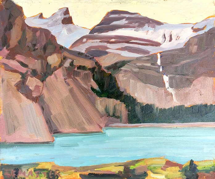 "Image of art work ""Bow Lake (on location study)"""