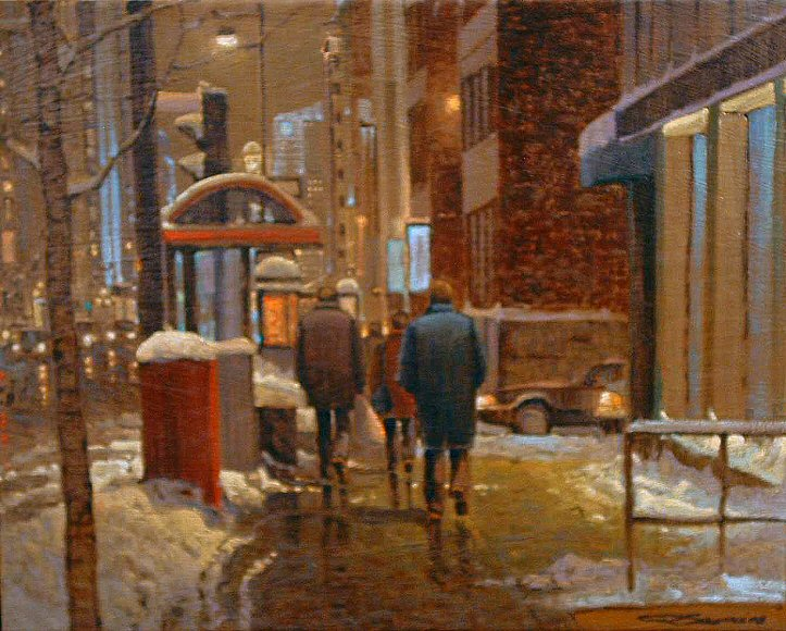 "Image of art work ""Walking, Sherbrooke Street"""