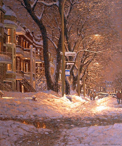 "Image of art work ""Rue du Parc Lafontaine et Napolean"""