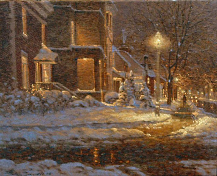"Image of art work ""Winter Night in Montreal"""