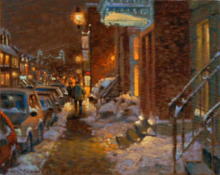 "Image of art work ""Soir Plateau, Mont-Royal"""