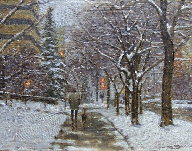 "Image of art work ""Snowy Day Calgary"""