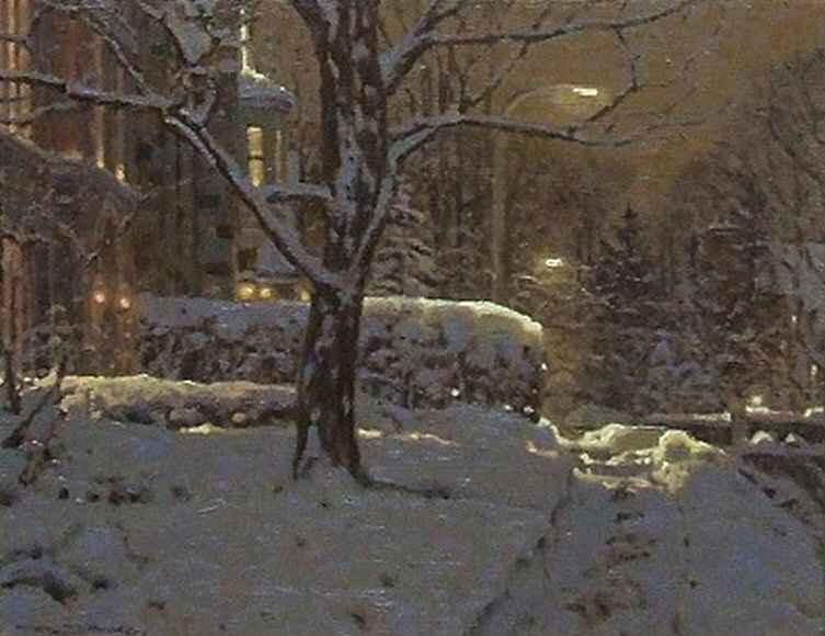"Image of art work ""Nuit a Westmount, Montreal"""