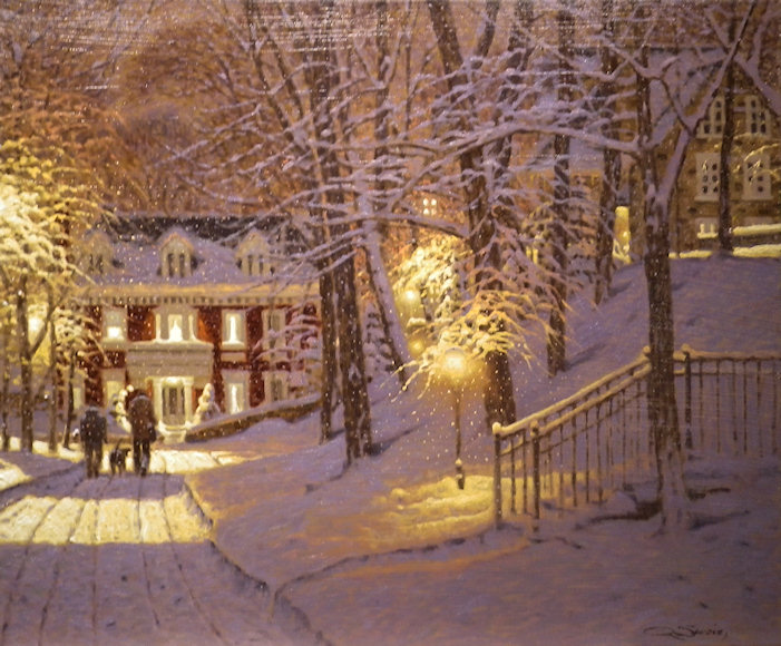 "Image of art work ""An Evening on Mont Royal"""
