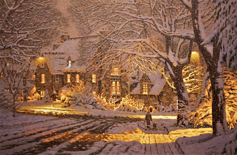 "Image of art work ""A Winter Evening in Westmount"""