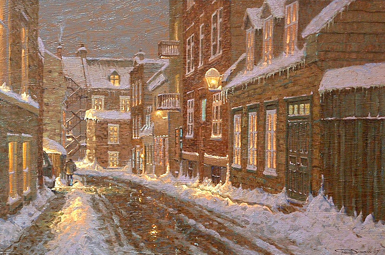"Image of art work ""Nocturne, Vieux Quebec"""