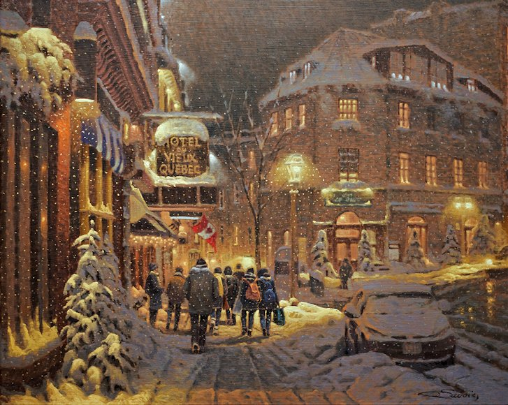 "Image of art work ""Rue Saint-Jean, Old Québec"""