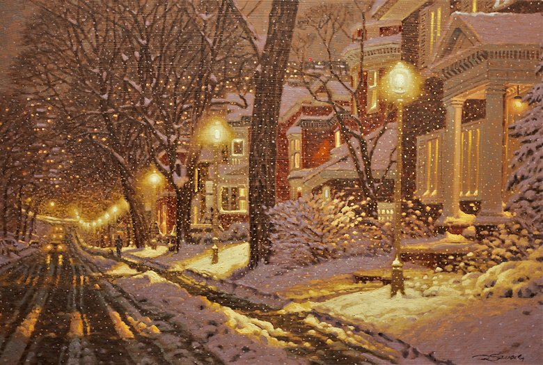 "Image of art work ""Wet Snow Falling on Westmount"""