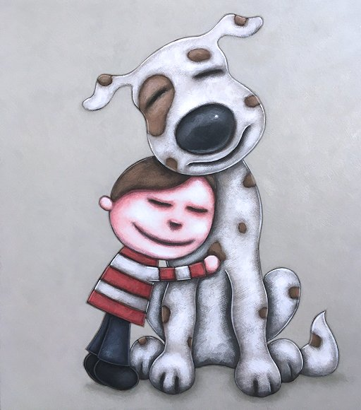 "Image of art work ""A Boy and His Dog"""