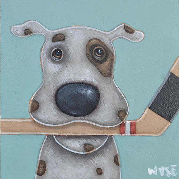"Image of art work ""Hockey Dog"""